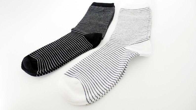 Black and White Socks | Monochromatic
